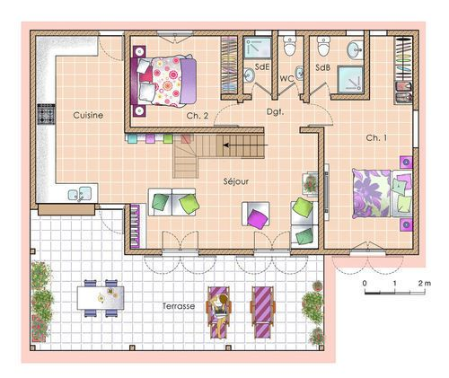 52 best archi maison images on Pinterest House blueprints, House - plan de maison d gratuit