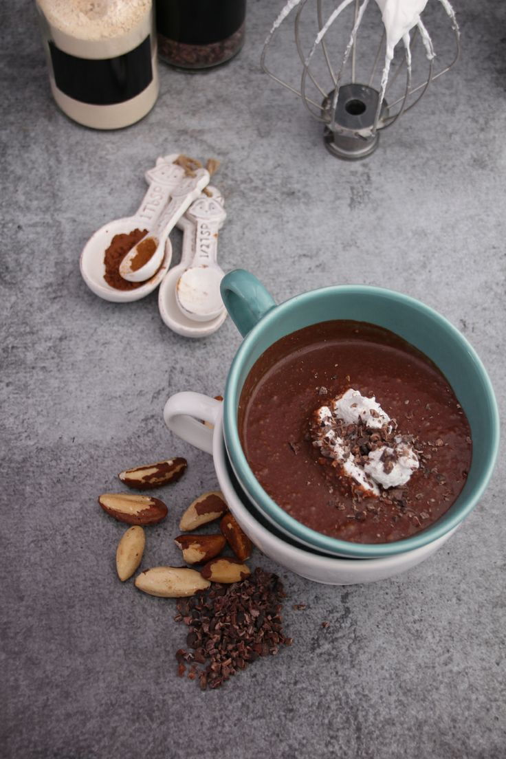 Brazil Nut Milk Hot Chocolate with Coconut Whip | Sweet Talk