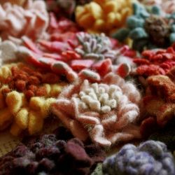 Make felt for Hope Blossoms by boiling unused wool sweaters! Beautiful hope gift during winter months...love these Blossoms!