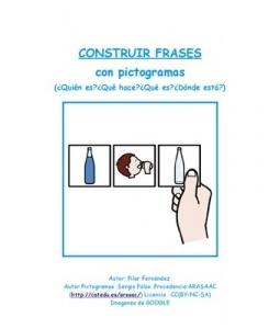 CONSTRUCCIÓN de FRASES sencillas con PICTOGRAMAS ARASAAC a partir de escenas con personajes de dibujos animados (Disney , Pixar , ...)