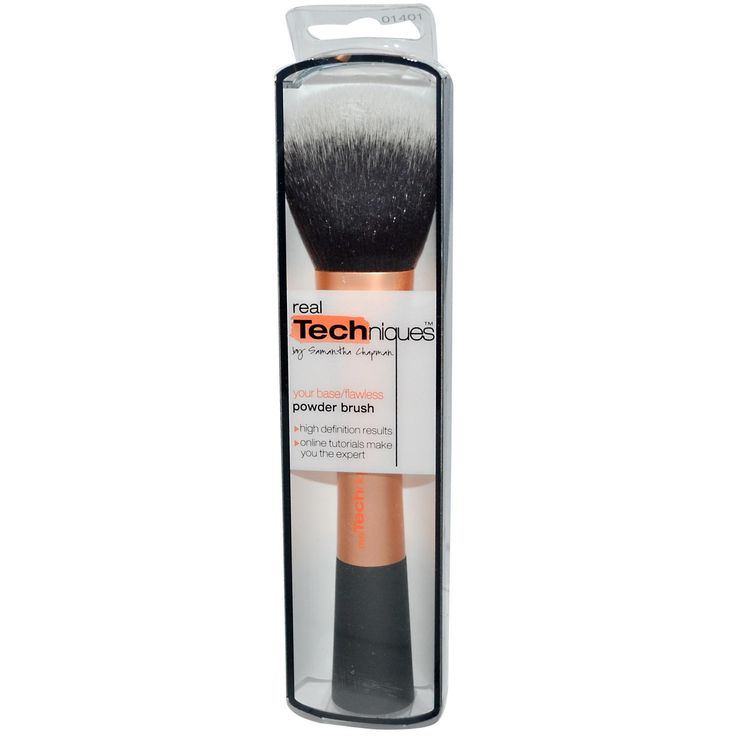 Real Techniques by Samantha Chapman, Your Base/Flawless, Powder Brush - iHerb.com