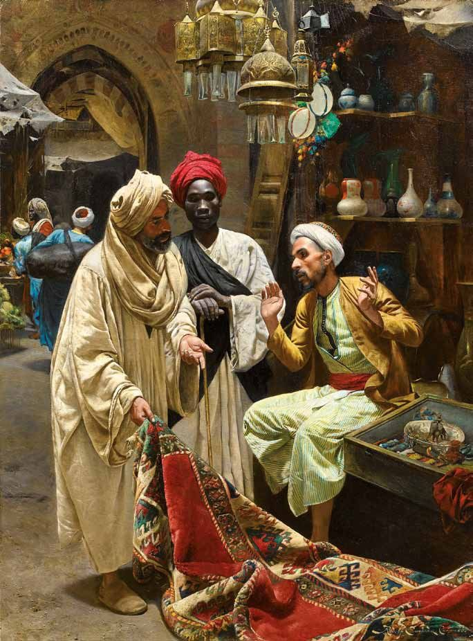 The Carpet Seller by Rudolf Swoboda (Austrian, (1859–1914).