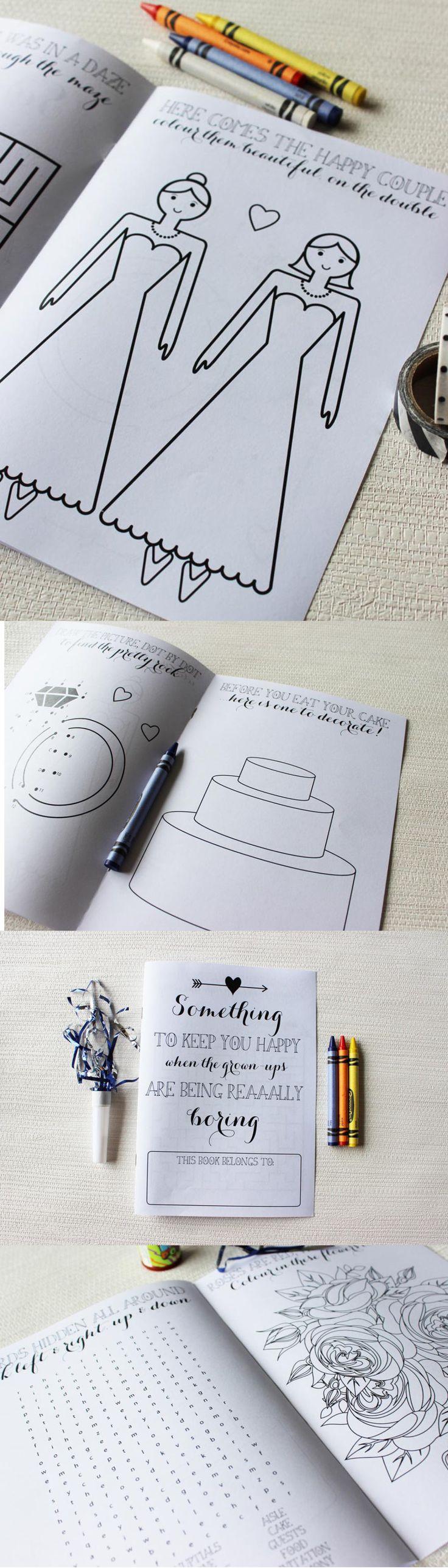 LGBT Brides Wedding Reception Booklet wedding activity books