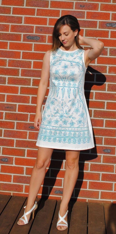 Danielle's Francoise dress with hand-drawn print!