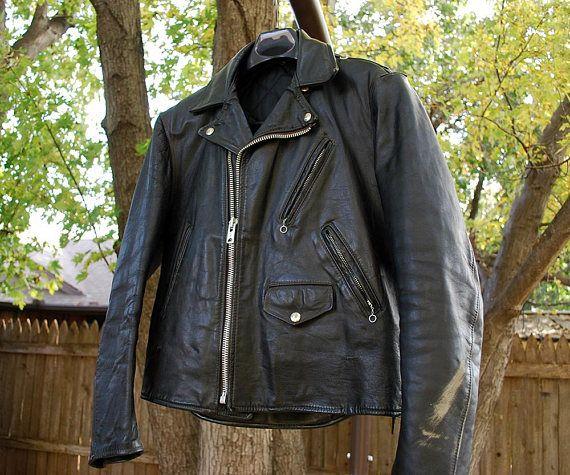 Black Leather Policeman Jacket Motorcycle Leather Jacket