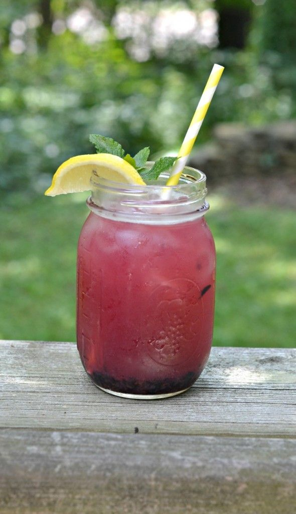 Lemon Blueberry Mint Iced Tea is a refreshing summer beverage!