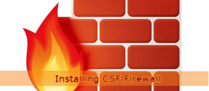 Installing #CSF #Firewall on #LinuxServer