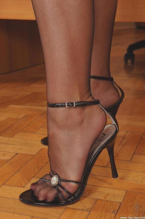 Pantyhose platform sandal bondage matchless