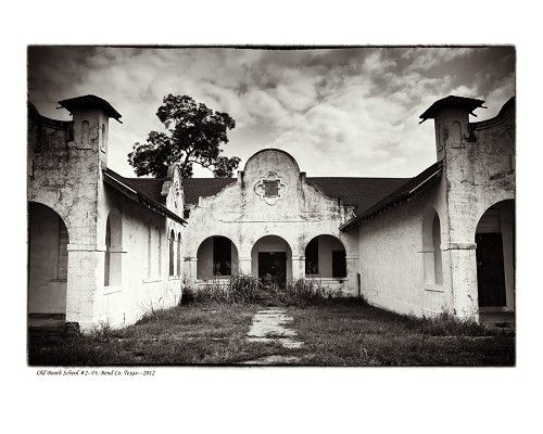 """""""Old Booth School 2, Fort Bend County, TX"""" by Tommy Lavergne, digital photographic print, 2012, 16""""x20"""" www.thornwoodgallery.com"""