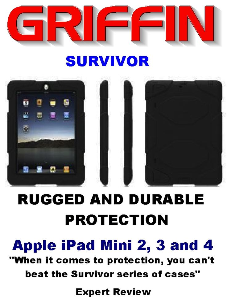 Griffin Survivor Cases. Rugged and Durable protection for iPads and iPhones. Shipped within Canada.