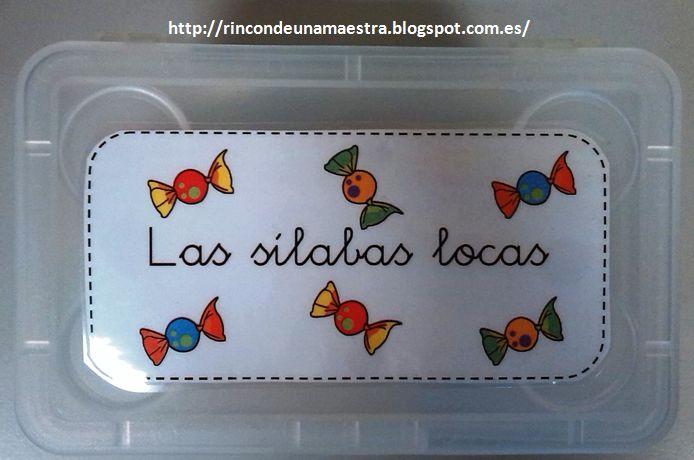 Rincón de una maestra: Las sílabas locas. Excelente idea para trabajar las sílabas directas e inversas.
