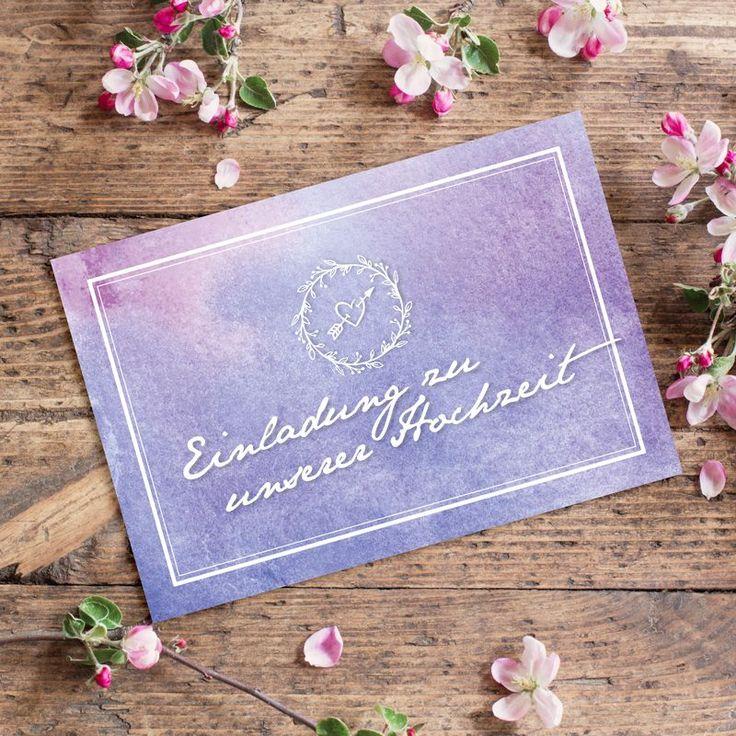 #Einladungskarte #Hochzeit Water Colour