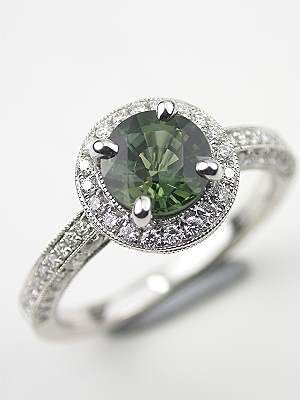 love this! Antique Style Green Sapphire