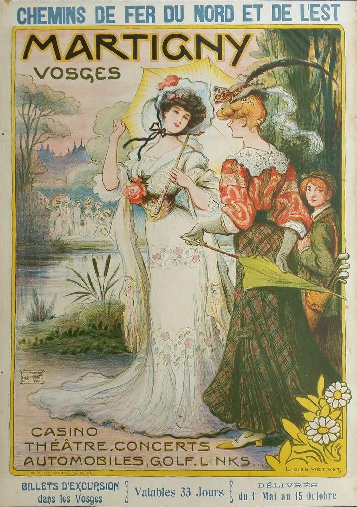 Original+vintage+poster+Martigny+Vosges+Chemin+de+fer+du+Nord+et+del'Est+-+Lucien+METIVET