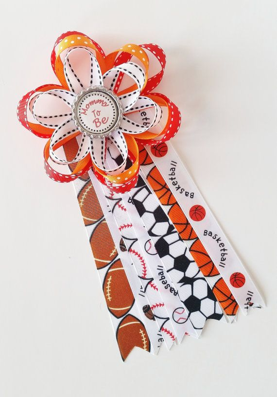 Sports Themed Baby Shower Corsage It's A by LilLoveBugsCreations