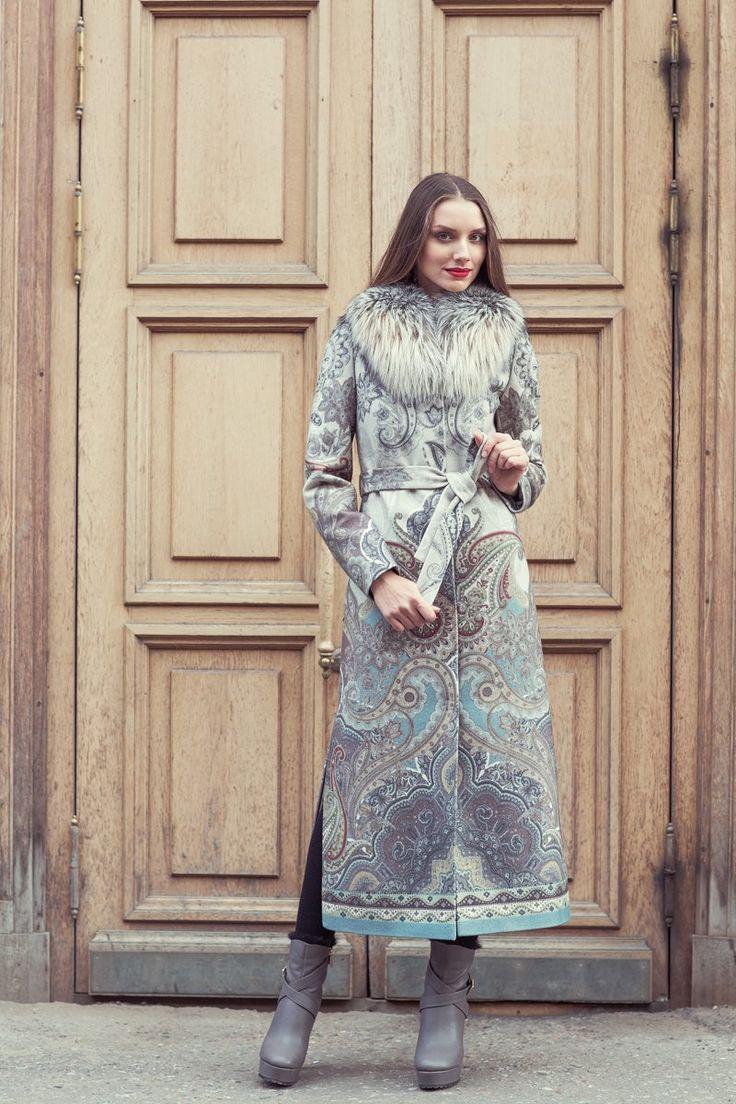 Пальто длинное из шерсти www.EkaterinaSmolina.ru