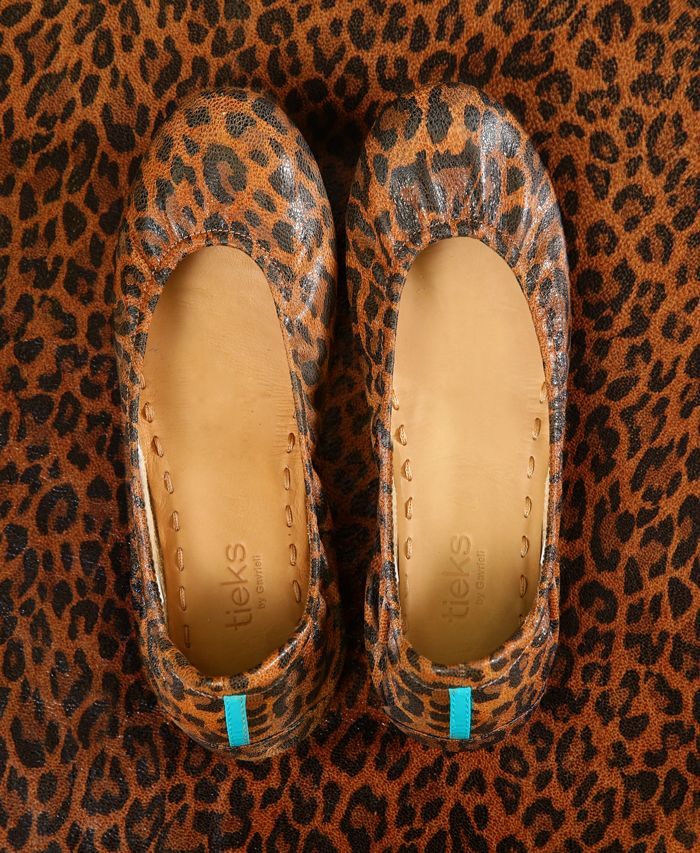 Add some edge to your wardrobe this season with striking Leopard Print Tieks!