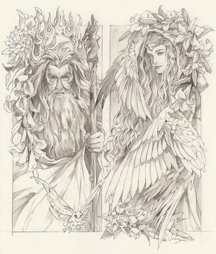 Галадриэль и Гэндальф