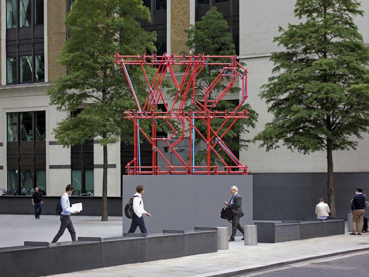Ben_Long_Work_Scaffolding_Sculpture_Gherkin_front_view
