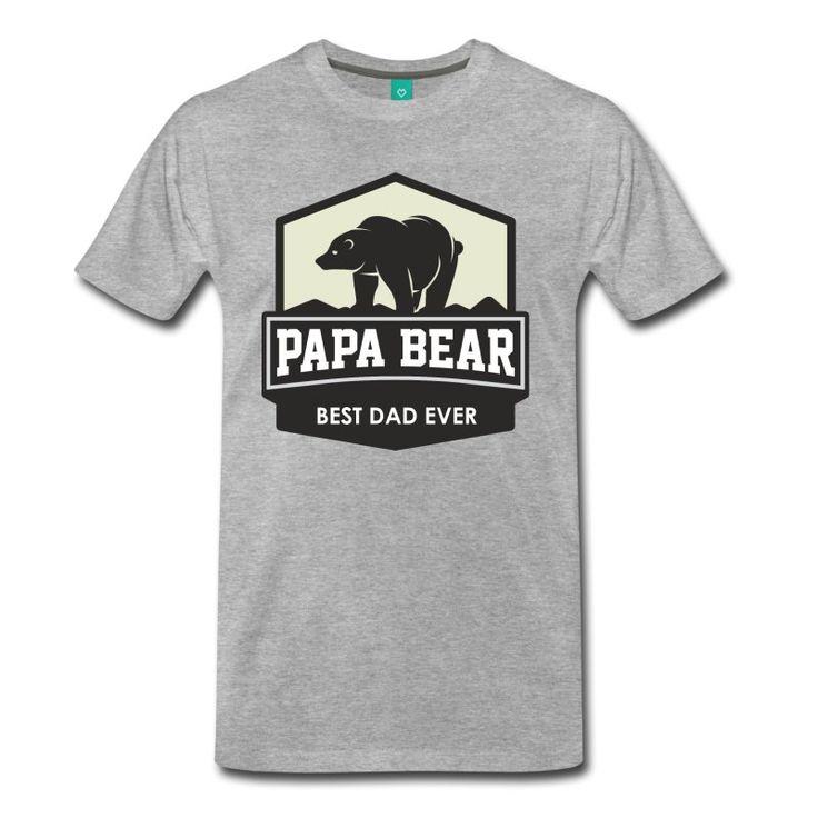 Papa Bear Best Dad Ever - Men's Premium T-Shirt