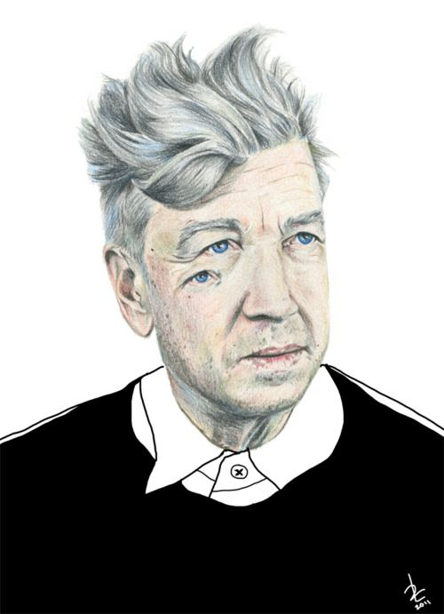 Sometimes I draw…  sometimes I davidlynch.  (Rebeca Losada. Color pencils, 2011)