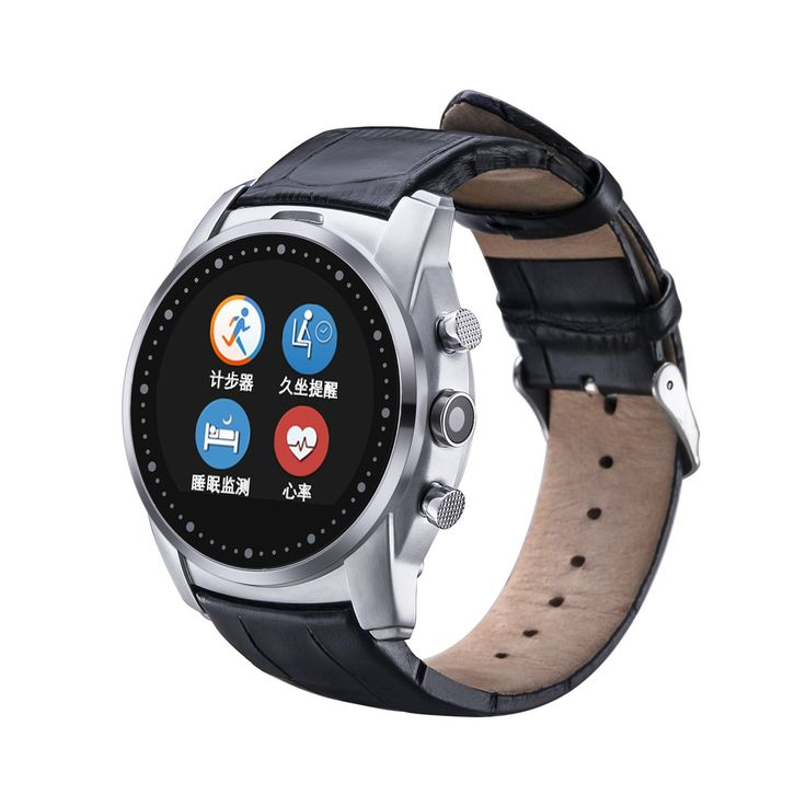 RG Black Leather Blutooth Smart Watch Compatible For Android /MIUI System Phone Support Heart Rate Monitor Fitness Tracker Smartwatch Waterproof Wrist Watches Sim Card Slot (No Support IOS System) -- Awesome products selected by Anna Churchill