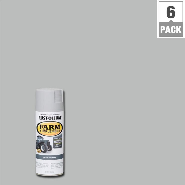 Rust-Oleum 12 oz. Farm and Implement Gray Primer Spray Paint (6-Pack)