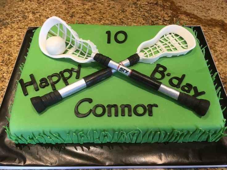 Lacrosse Birthday Cake on Cake Central