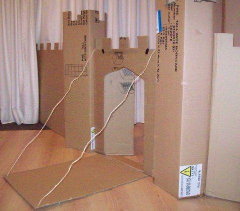 cardboard castle fort! :-)