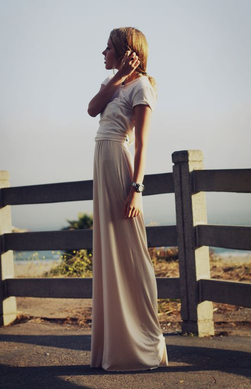 Flowing Maxi skirt, pair it with a plain tshirt