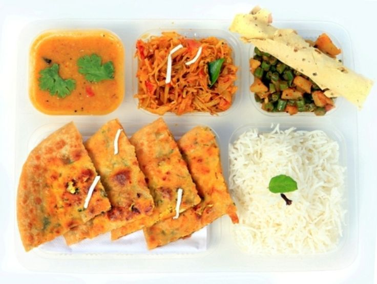 Regular thali plan consists of the following contents one vegetable + dal + rice + 4 chapatis. The cost of 30 days regular thali is Rs. 2,280  for more information log on to www.chadaro.com or call on 7498874988