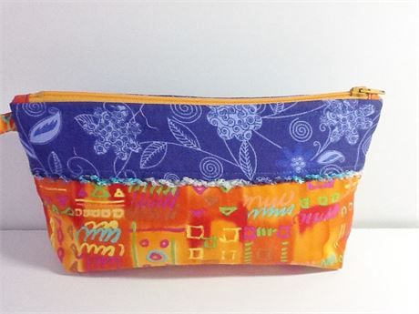 Handmade Zipper Pouch, Eyeglasses Jewelry Cosmetics Case, Accessories,  Birthday Gift For Her, Made in USA