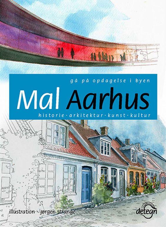 """Mal Aarhus"" forside, Denmark, Jørgen Strunge, Møllestien, Aros My Rainbow Panorama"