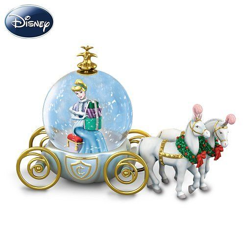 Disney Miniature Cinderella Snowglobe: A Party For A Princess by The Bradford Exchange by Bradford Exchange. $24.98. A first-of-its-kind miniature Disney snowglobe capturing an enchanting Cinderella scene, in a special design from The Bradford Exchange. Your collectible Cinderella snowglobe showcases a fully-sculpted scene of the Disney Princess with a festive stack of gift-wrapped presents upon her knee, and rests in a horse-drawn coach, recalling the one she rode in ...