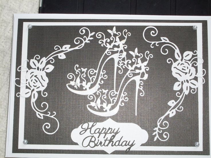 Birthday card using Tattered Lace dies