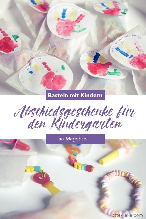 Abschiedsgeschenk Fur Den Kindergarten Ideen Mit Einem