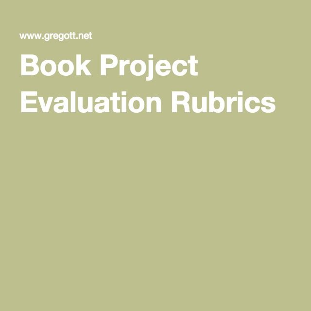 Book Project Evaluation Rubrics  Wonder    Book