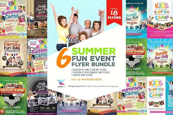 Summer Fun Event Flyer Bundle by kinzi21 on @creativemarket