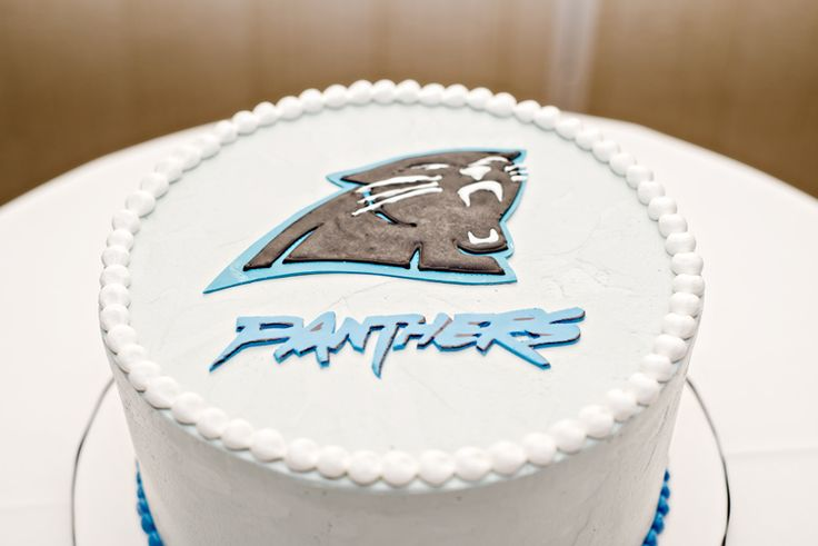 Carolina Panthers Groom's Cake (Just a Dream Photography)