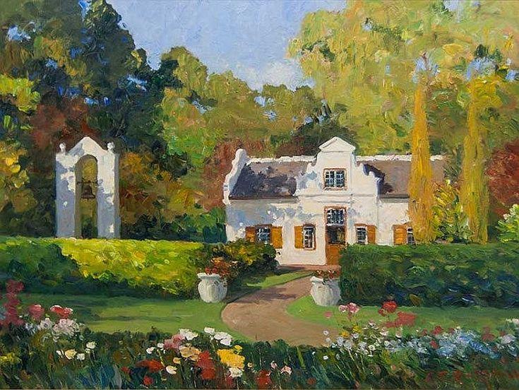 Roelof Rossouw (SA, born 1957) Oil, Cape Dutch