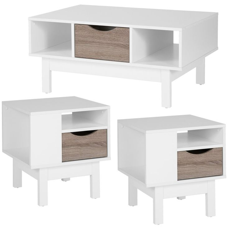Best St Claire Collection 3 Piece Coffee And End Table Home 400 x 300