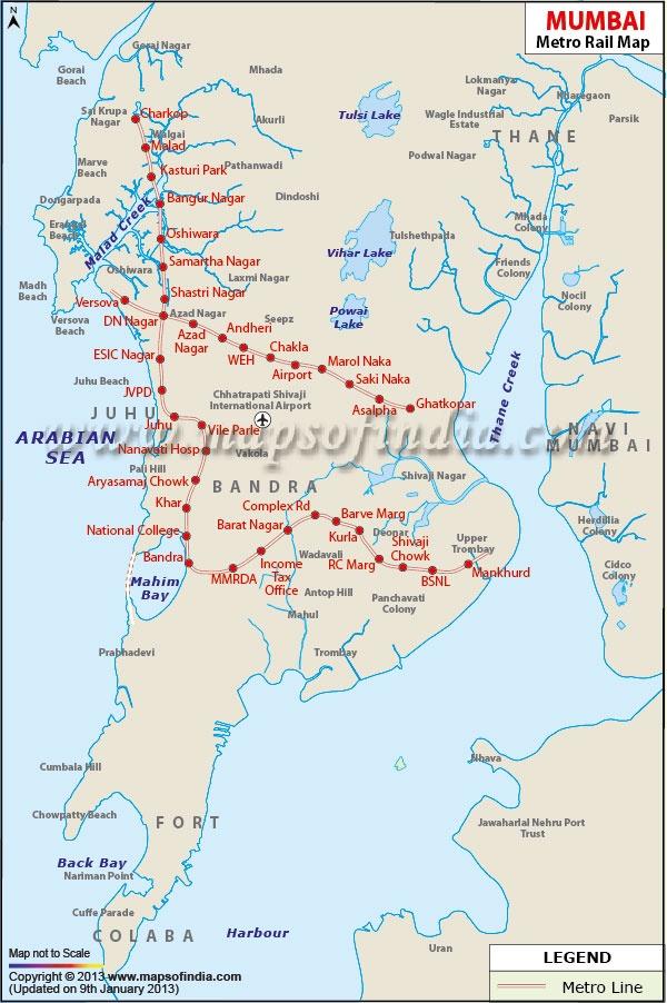 Proposed Mumbai Metro Map