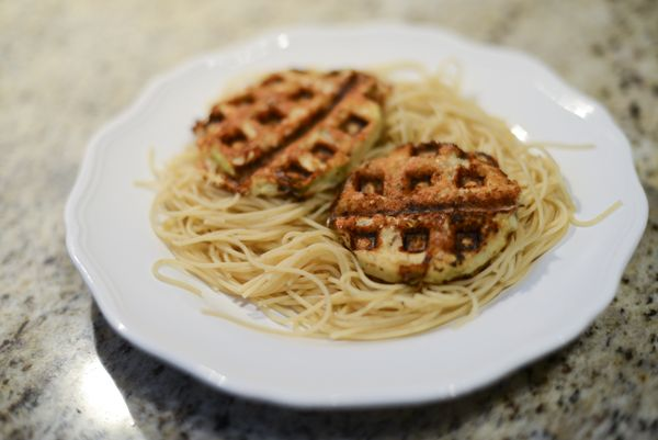 Healthy Eggplant Parmesan--Made in a Waffle Iron!