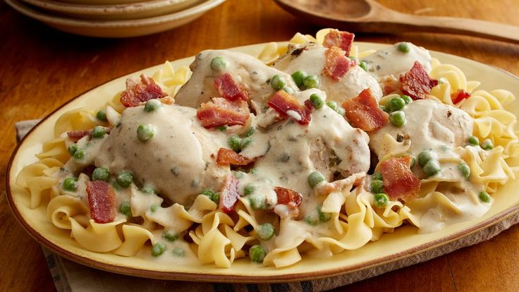 You can never go wrong with smothered chicken, but our simplified recipe delivers big flavor with the help of a secret weapon—herb cream cheese. This saucy dish comes together in five simple ingredients and is great paired with pasta or potatoes.