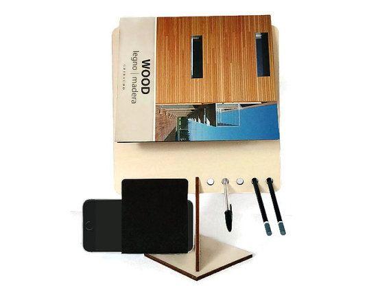 Laser cut wood desk caddypen holderdesk by DigitalHandmade on Etsy