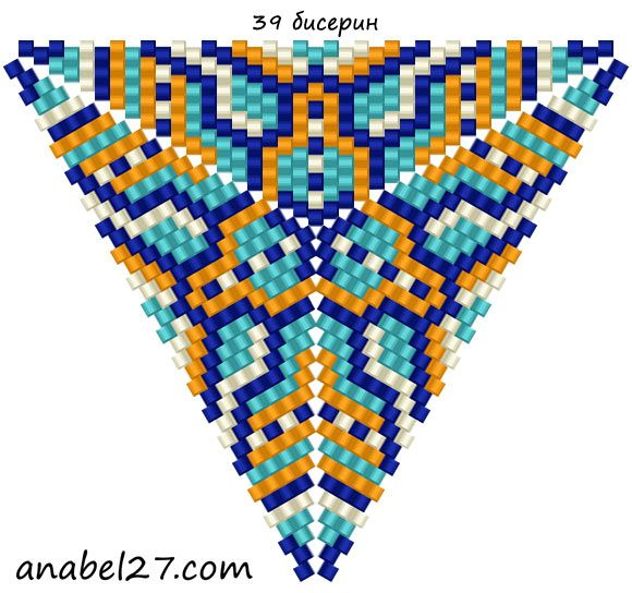 Схемы треугольников - мозаичное плетение 2 | - Схемы для бисероплетения / Free bead patterns -