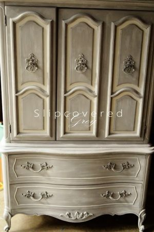 Annie Sloan Chalk Paint French Linen, whitewashed, and waxed. by Lay