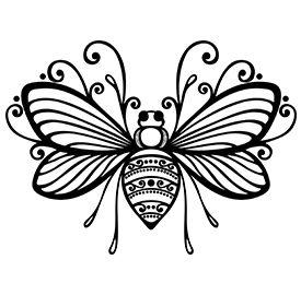 Tribal bee tattoo design