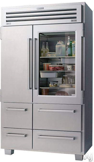 Sub-Zero 648PROG 48 Built-in Side by Side Refrigerator with 3 Adjustable Spill-Proof Glass Shelves, Dual Refrigeration System, Refrigerator/Freezer Drawers, Ice Maker, Auto-Close Hinge System, Glass Door and Star-K Certified