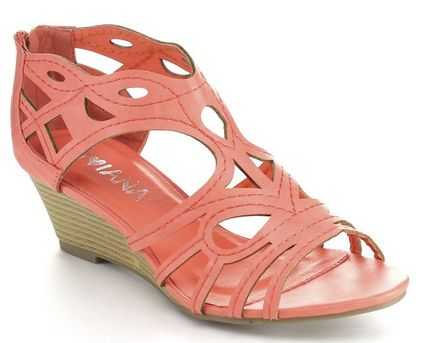 So cute and stylish sandals. Cut Out Back Zip Wedge Sandals